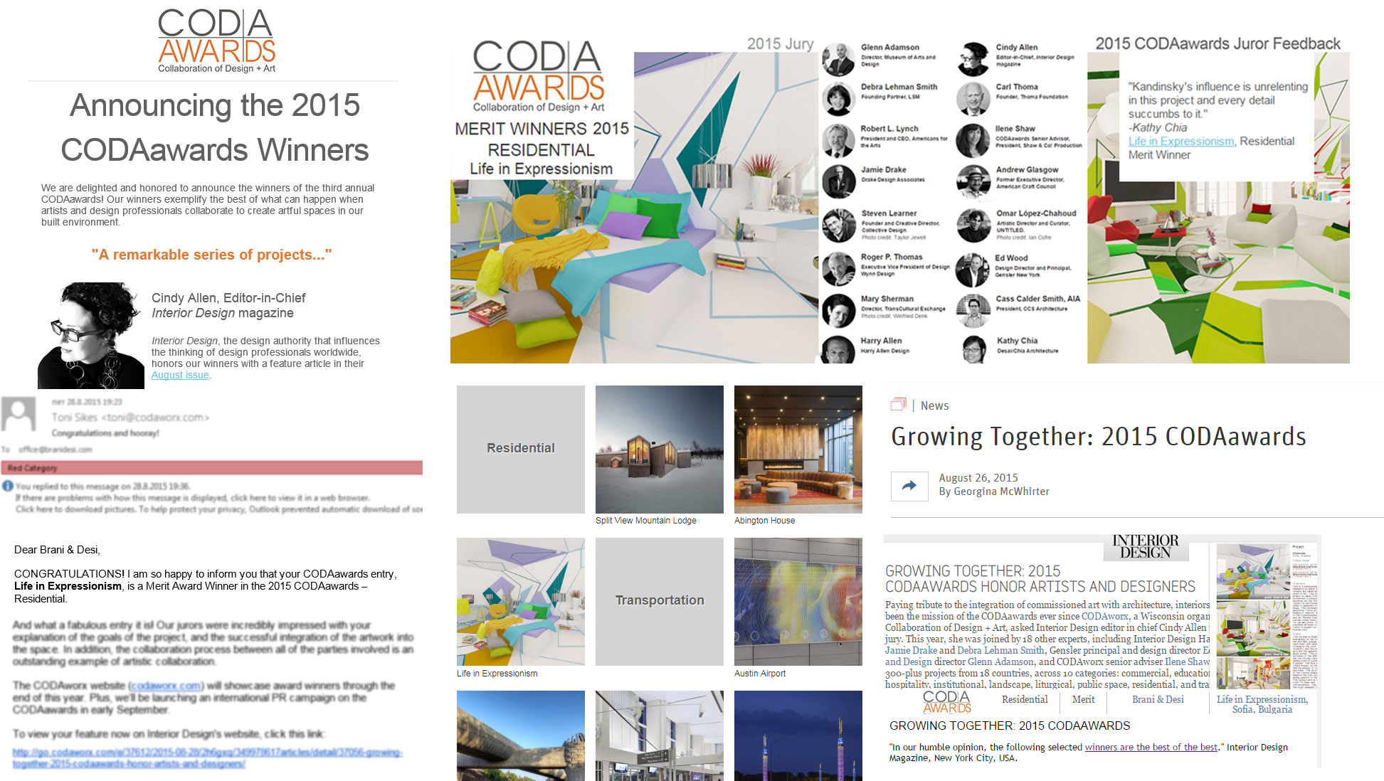 BRANI & DESI WINS CODAWORX 2015 AWARD OF MERIT, USA